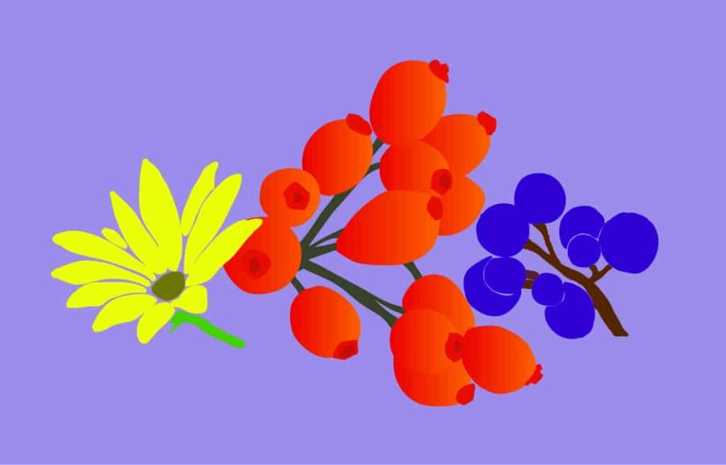 Fiber Blue Flower